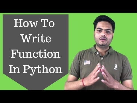 How To Write Function In Python|Python Data Science Tutorial (2019) thumbnail