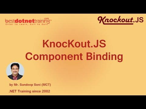 Part 11- Component Binding in Knockout .JS
