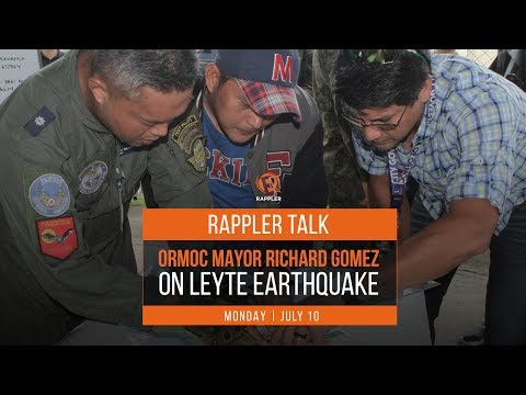 Rappler Talk: Ormoc Mayor Richard Gomez on Leyte earthquake