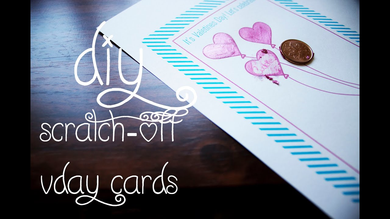 14 Days of Valentine Day 7 ScratchOff Vday Cards YouTube – Scratch off Valentine Card