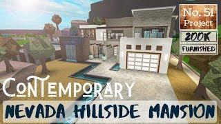 Bloxburg Build || Contemporary Desert Hillside Mansion | Roblox