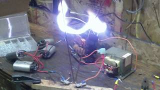 Dual MOT Jacobs Ladder 4KV    ( Running Off 240VAC )