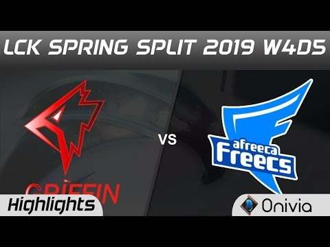 GRF vs AF Highlights Game 1 LCK Spring 2019 W4D5 Griffin vs Afreeca Freecs by Onivia