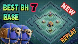 BEST BH7 (BUILDER HALL 7) BASE LAYOUT WITH REPLAY | TOP BH7 DEFENSIVE TROPHY BASE | CLASH OF CLANS