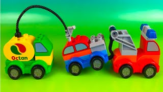 Lego Duplo combine and create a Toy Cars a Tow Truck a Gas Tanker the perfect boy toys