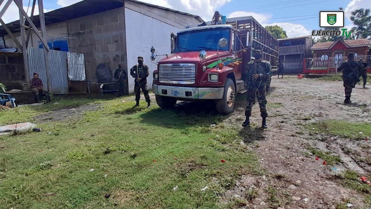 5 Comando Militar Regional ocupó semovientes transportados sin documentación en la comarca El Marrón