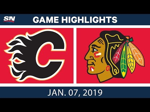 NHL Highlights | Flames vs. Blackhawks - Jan. 7, 2019