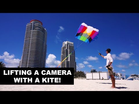 How To Lift A Camera With A Kite! (Kite Aerial Photography)