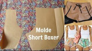 Faça seu molde de short Boxer