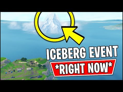 The Iceberg Is Moving Right Now In Fortnite Youtube