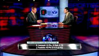 BYU Jimmer Fredette scores 43 points on San Diego ESPN 2011