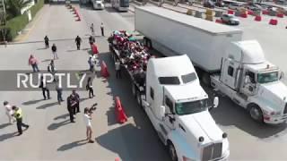 Mexico: Migrant caravan bids farewell to Mexico City