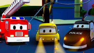 Авто Патруль: пожарная машина и полицейская машина, и Отключение света в Автомобильный Город