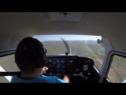 Solo Flight Cross Country. Cessna 172 from Grand Central (FAGC), Parys (FAPY), Potchefstroom (FAPS)