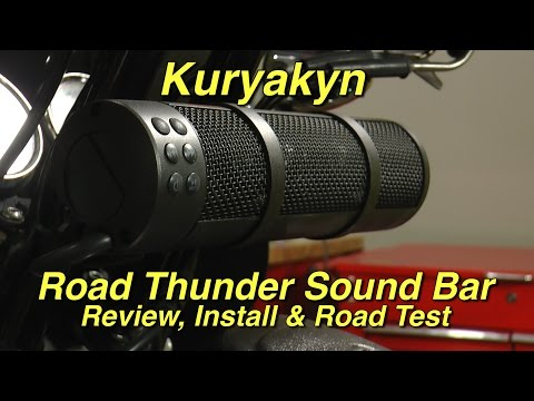 Kuryakyn Road Thunder Sound Bar by MTX Review, Installation and Road Test by J&P Cycles