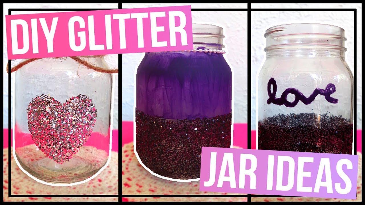 3 Diy Glitter Jar Ideas How To Make Glitter Jars Youtube