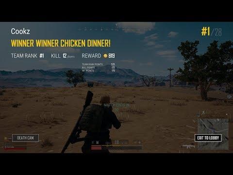 12 Kill Chicken Dinner! - PUBG