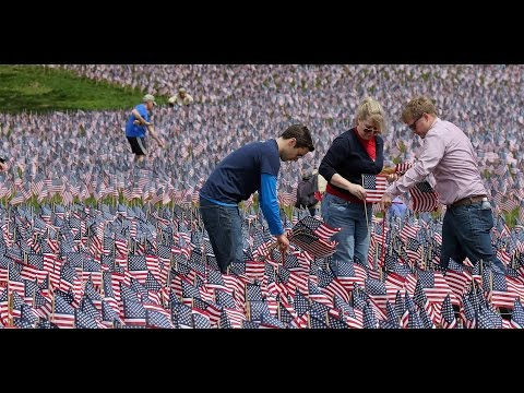 Flag planting in Boston Common honors fallen heroes