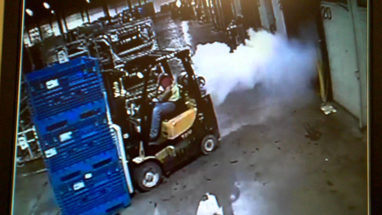 Forklift Explosion Youtube