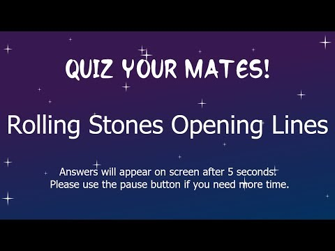 Rolling Stones Opening Lines Quiz, with answers