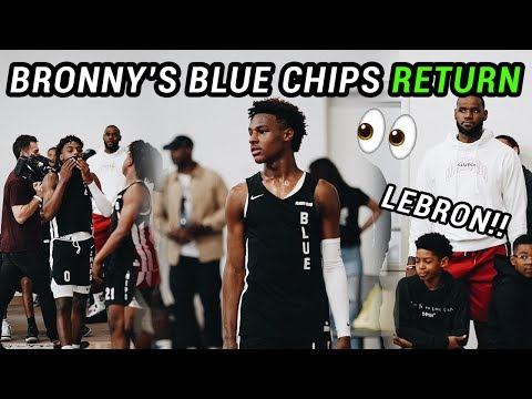 promo code 95992 7ace2 Highlights: Bronny James Leads Blue Chips to Easy Win at LA ...