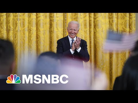 Biden Participates In Naturalization Ceremony At The White House