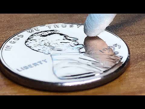 【Coin Polishing】$0.01  coin to mirror #1/Satisfying Video - 1 cent coin Polish