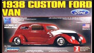 How to Build the 1938 Ford Custom Van 1/24 Scale Lindberg Model Kit...