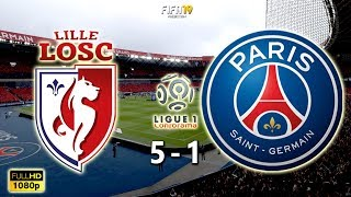 Lille vs Paris Saint-Germain 5-1 | Ligue 1 2018/19 | Matchday 31 | 14/04/2019 | FIFA 19