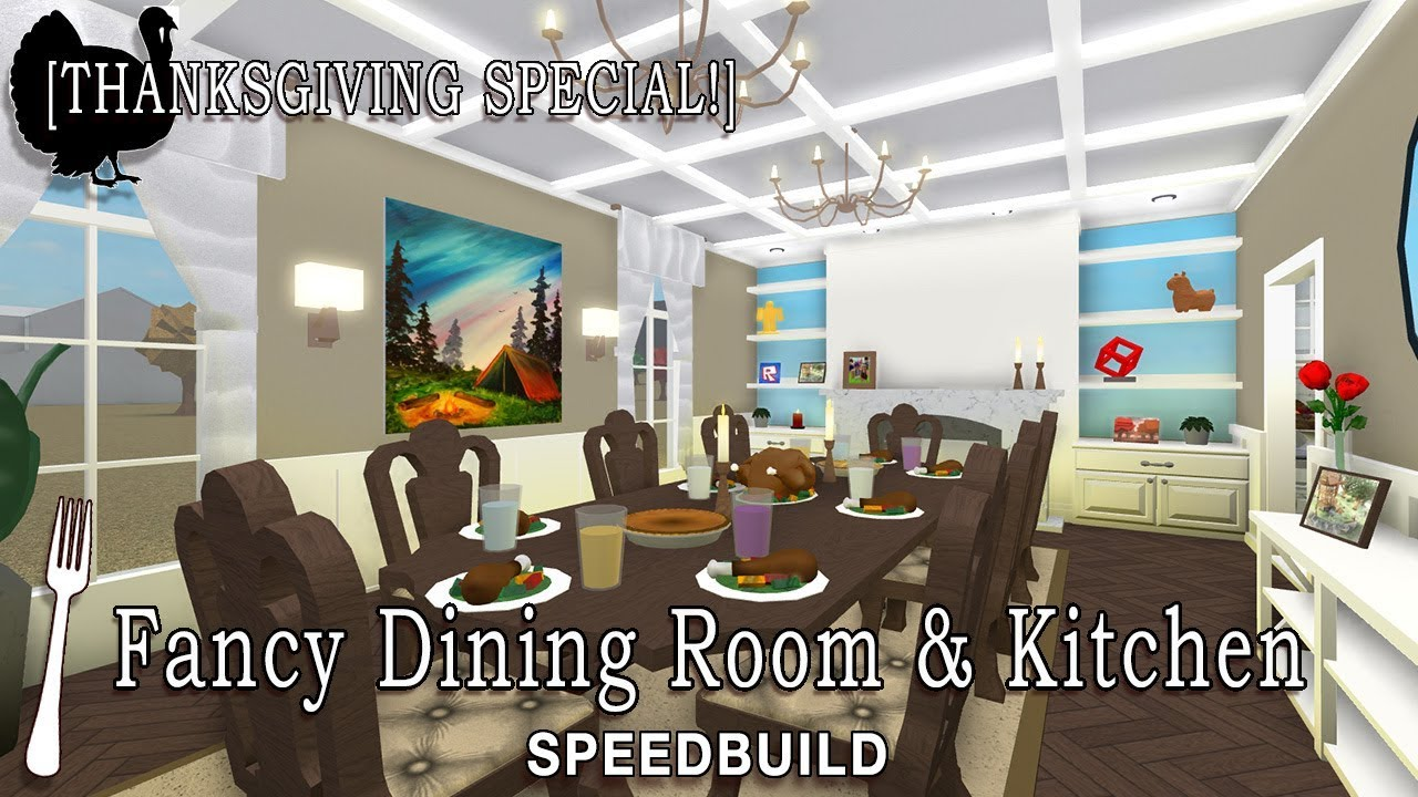 Roblox Bloxburg Fancy Dining Room Kitchen Speedbuild - Fancy-dining-room