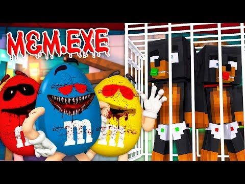 Minecraft M&M'S WORLD.EXE - ALL THE M&M'S HAVE TURNED INTO EVIL.EXE & CAPTURED DONUT & BABY MAX!!