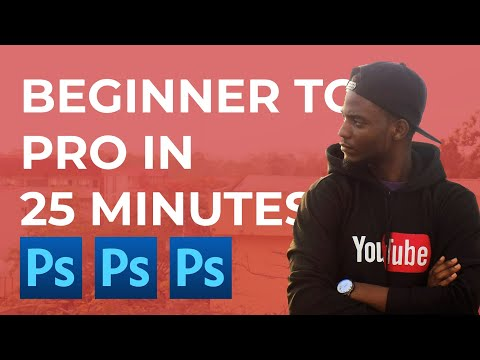 LEARN ADOBE PHOTOSHOP CC 2019 for BEGINNERS | Graphics Design Tutorial thumbnail