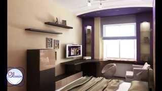 видео Дизайн проект комнаты, готовый пример интерьера квартиры для подростка своими руками