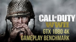 Call of Duty  WWII | GTX 1080| Ryzen 1700 | 4K Max Settings Gameplay Benchmark [4k]
