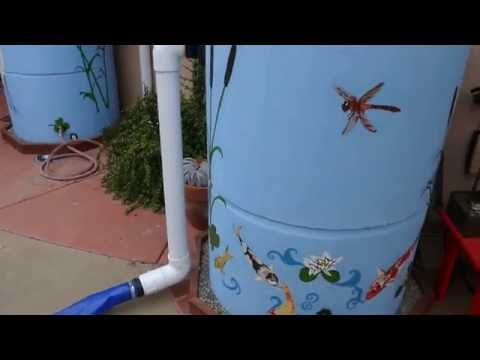 Rainwater harvesting in San Diego County with ferrrocement tanks and natural pool