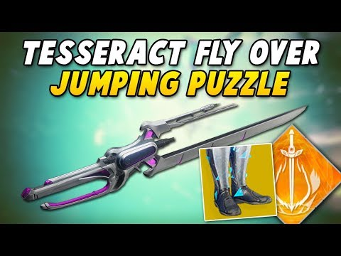 WARLOCK TESSERACT FLYING - Whisper of the Worm Jumping Puzzle Speedrun Tricks (Destiny 2)