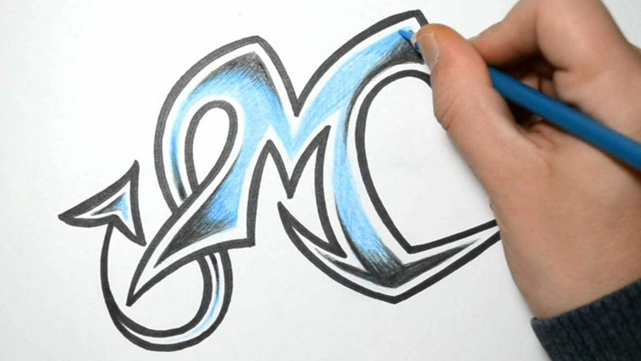 How To Draw Wild Graffiti Letters M Youtube