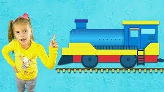 Песенка про поезд чух чух Канал Лапатушки веселые детские песни и мультики