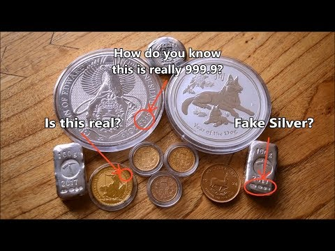 How do you know if something really is pure gold or silver?