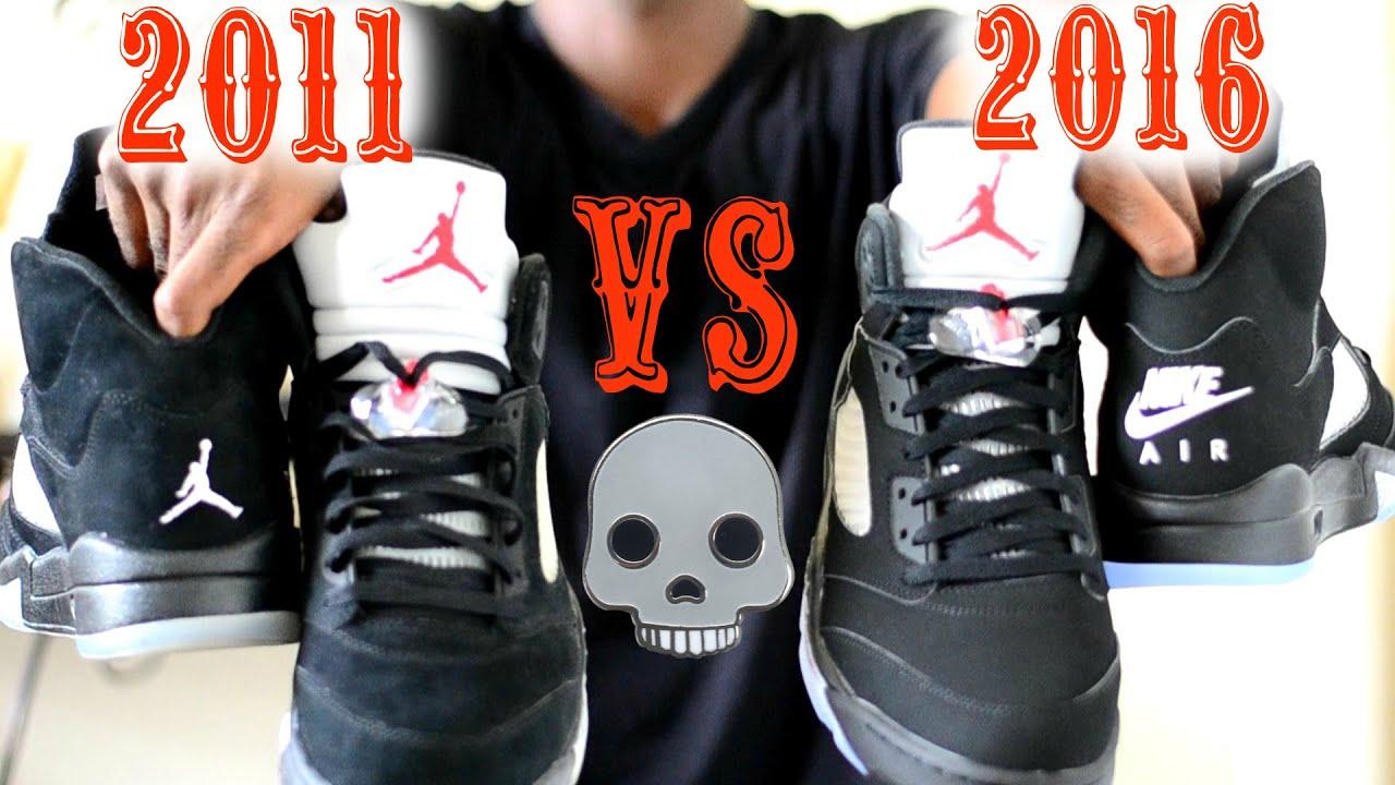 best sneakers c0581 f3023 2011 vs. 2016 Jordan 5