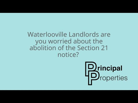 WATERLOOVILLE Landlords are you worried about the BANNING of the Section 21!?