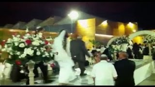 Israeli Bride And Groom Forced To Flee Their Wedding As Hamas Rockets Explode Over Their Heads