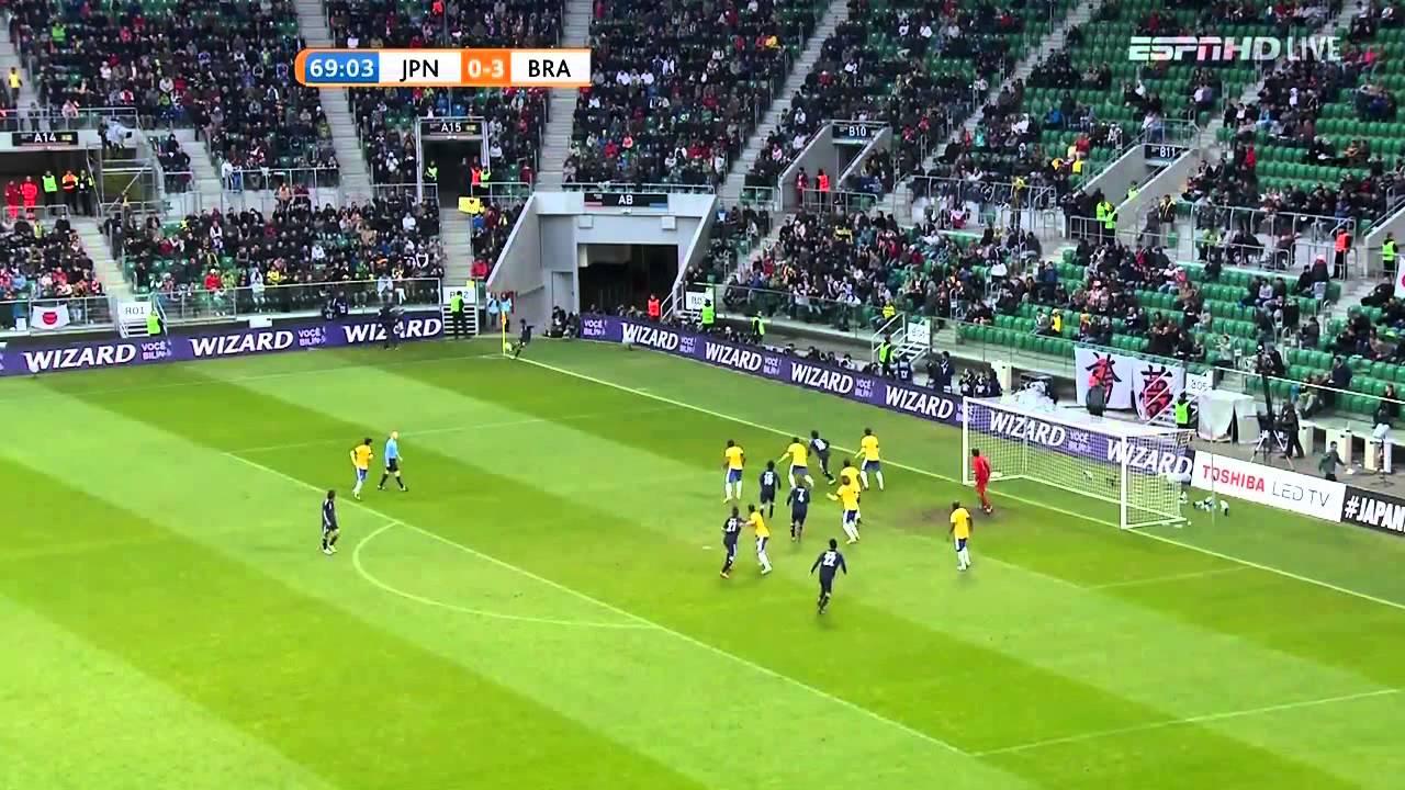 [國際足球友誼賽]2012/10/16 日本 對 巴西 下半場 - YouTube
