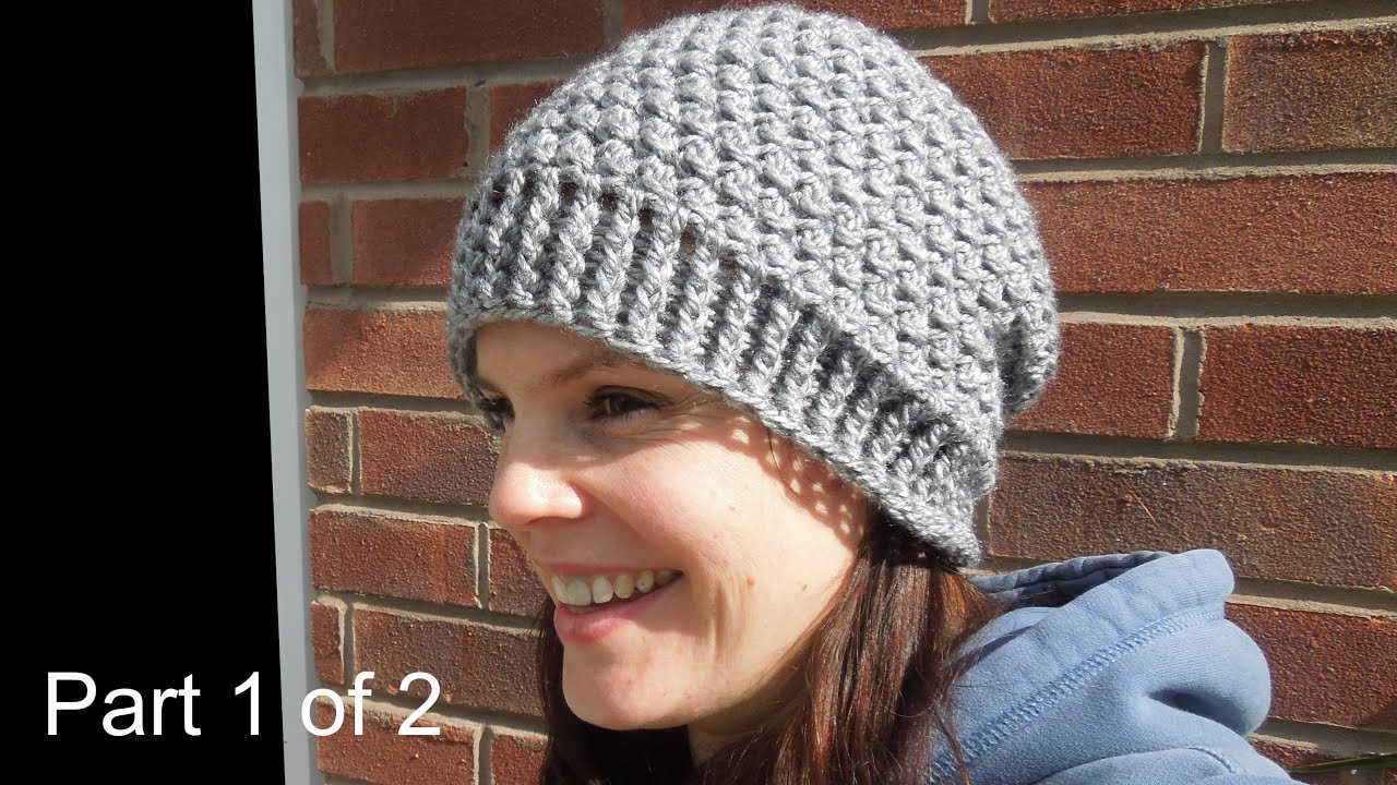 How To Crochet A Beanie : crochet) Pt1: How To Crochet my Cluster Slouchy Beanie - Yarn Scrap ...