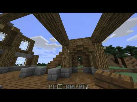 Minecraft let 39 s build log cabin mansion ep 4 for Interior design xbox game