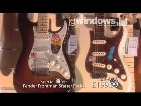 Fender Guitar Advert for Windows Music Shop