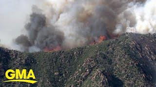 3 dozen fires rage in 9 western states l GMA