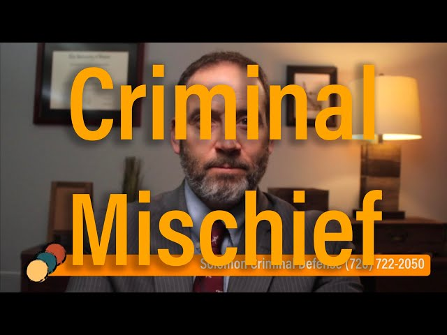 What is Criminal Mischief? Criminal Law Q&A - Solomon Criminal Defense - Aurora, CO