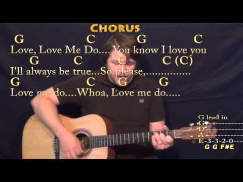 Love Me Do (The Beatles) Strum Guitar Cover Lesson with Chords/Lyrics