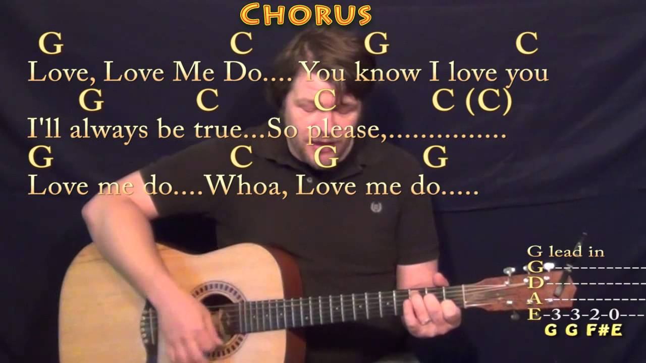 Love Me Do The Beatles Strum Guitar Cover Lesson with Chords/Lyrics